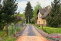Opravená cesta před ČOV - ulice Mlýnská